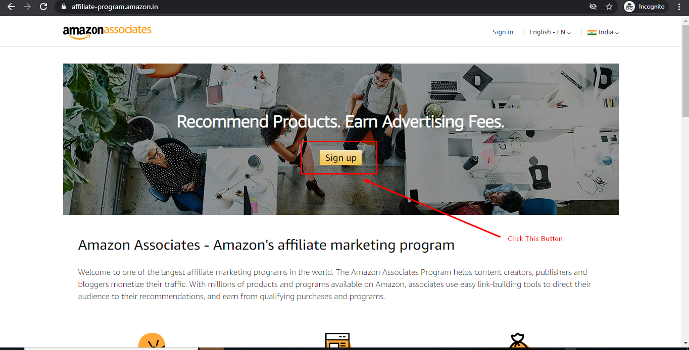 How to Join Amazon Affiliate Program in Hindi