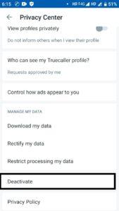 truecaller se account delete kaise kare 01